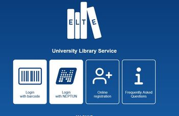 ELTE Library webapp