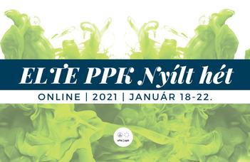 Online nyílt hét az ELTE PPK-n