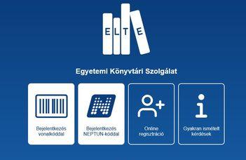 ELTE Könyvtár Webapp