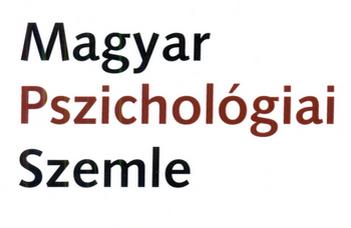 Megjelent a Magyar Pszichológiai Szemle új száma