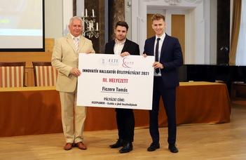 Innovatív fesztiválapplikációért díjazták a PPK hallgatóját