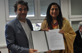 Exchange Agreement with India's first women's college